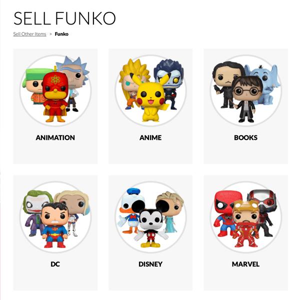Sell Funko Pops online